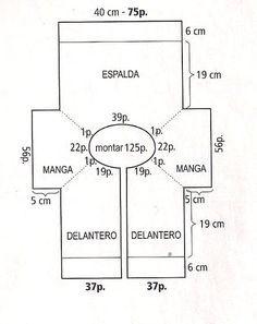 TALLA  CHICA  MATERIALES : 300 g de hilaza de algodón delgada color camel. Agujas para tejer de los núms. 4 y 4 1/2. 6 botones al tono. 4...