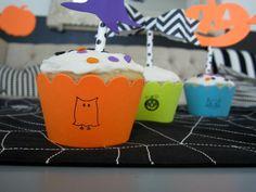 Design Sprinkle: Halloween Party Ideas#NightmareBeforeChristmas #Cupcakes #Stamps #Kids