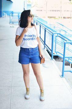 Xá de Amora - Blog de Moda: Look Priority Boarding e bota da Petite Jolie