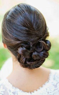 Wedding Hair-low bun See more Go To http://www.womensandmenshairstyle.net/