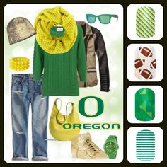 A Jamberry Nails look inspired by Oregon Duck Fans! Http://kimboslice.jamberrynails.net