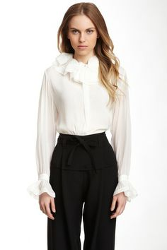 Chloe Ruffle Collar Blouse on HauteLook