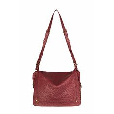 Jerome Dreyfuss  Albert Burgundy Bubble Lambskin Messenger Bag: This Albert burgundy lambskin by Jerome Dreyfuss is a classic messenger with a generous body. Constructed with an adjustable leather strap, this bag can be carried on the shoulder or across the body. Featuring zip gussets to adjust the size and three interior compartments.