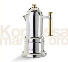 Vev Vigano Stovetop Espresso Maker - Vev Vigano Kontessa Gold 4 cup size -- Click image for more details.