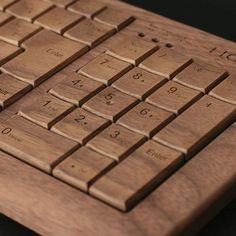 Wooden Keyboard by Hacoa