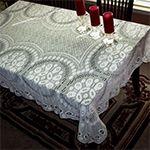 Free Crochet Retangle Tablecloth Patterns   Luca Rectangular and Square Tablecloth Patterns in Filet (FT438)