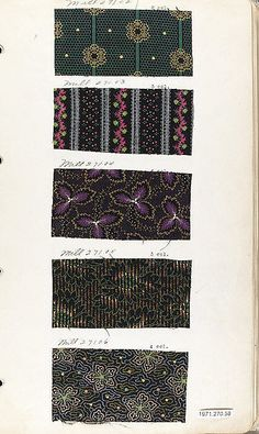 Textile Sample Book Date: 1870s Culture: British or American Dimensions: No dimensions recorded. Classification: Textiles-Sample Books Credit Line: Gift of Everfast Industries Inc., 1971 Accession Number: 1971.270.58