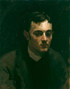 Albert de Belleroche, Sargent's friend (and lover?) -- JSS, Albert de Belleroche, c.1882