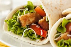 Made with only 7 items, this lightened up version of a chicken salad wrap is simple to prepare, and easy to assemble.