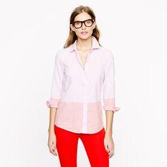 J Crew Colorblock Shirt. Size 12. Retail price: $78. Modo Price: $28! www.modoboutique.com