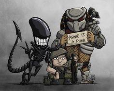 Aliens vs. Predator Group Photo by JoshNg.deviantart.com