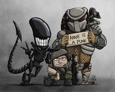 Aliens vs. Predator Group Photo by JoshNg.deviantart.com
