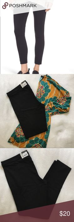 Hue Black Leggings Hue black leggings. Leggings made of stretch cotton with piped seams are both flattering and polished so you look great no matter the occasion. Top in photo also for sale. HUE Pants Leggings