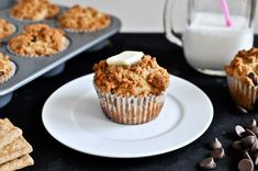 Graham Cracker Chocolate Chip Muffins