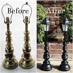 Upcycled Solar Lamp Posts von dir Kiss of Life Upcycling Mehr - Yard solar lights crafts - Do It Yourself Furniture, Diy Furniture, Furniture Stores, Garden Furniture, Adirondack Furniture, Outdoor Lighting, Outdoor Decor, Lighting Ideas, Backyard Lighting