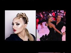 Ballroom hairstyle & makeup tutorial inspired by Yulia Zagoruychenko - YouTube