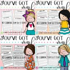 In this bundle you will find 40 you've got mail character letters with written response questions. These resources are great for teaching small group instruction, character education, for homework packets, and more!-PDF and Powerpoint versions available. These are not editable, but the Powerpoint fi...