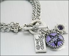 Wiccan Charm Bracelet Wiccan Jewelry Celtic by BlackberryDesigns, $48.00