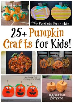 25+ fun pumpkin crafts for kids! Great Fall roundup!