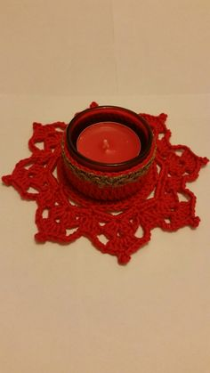 Crochet Tealight Holder