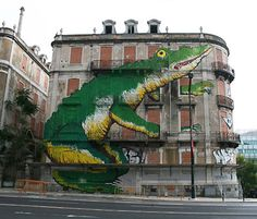 Crono is a Portugese Urban Art project with the intention of pairing some of the best street artists with huge, beautiful (abandoned) buildings in Lisbon. The idea already has had a significant impact on the 'look' of the city and will continue to provide some amazing street art.