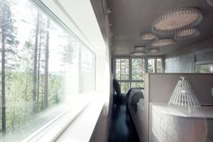 Tree Hotel in Sweden (interior view) Treehouse Hotel, Interior Architecture, Interior Design, Unique Hotels, Contemporary Bedroom, Aesthetic Wallpapers, Sweden, Living Spaces, Treehouses