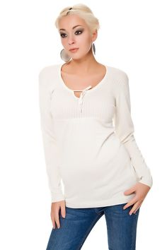 Pullover Babydoll Style Rippenstrick Muster