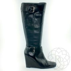 """Nine West Black Leather Boots Beautiful Black Genuine Leather boots  ▪ Shaft Height: 13 1/4"""" inches (from the ankle) ▪ Circumference: 16"""" inches (at top opening) ▪ Heel Height: 4"""" inches  All measurements are approximate  Brand New never worn. No box.   ✨ FINAL PRICE ~ NO OFFERS ✨    PRICE IS FIRM unless bundled     All Sales Final 