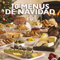 Aquí tienes muchas ideas para preparar diferentes menús de Navidad al gusto de todos, desde los más clásicos a los más modernos. En todos los casos puedes preparar antes unos aperitivos entre las muchas ideas que te damos, y los combinas a tu gusto con el resto de platos.