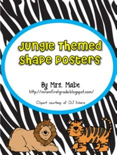 Set includes 9 shape posters perfect for reinforcing geometric figures in your jungle themed classroom.Shapes included in set are:circlesqu...