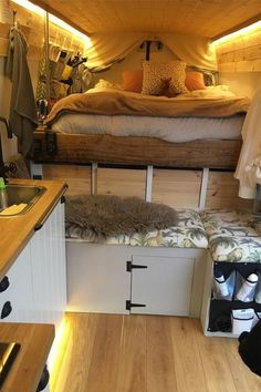 23 Amazing Van Life Interior Ideas For Inspiration! – Deluxe Timber 23 Amazing Van Life Interior Ideas For Inspiration! – Deluxe Timber,Wohnmobil Camper How awesome is this van life interior? Looks so comfy Related. Interior Trailer, Van Interior, Interior Ideas, Motorhome Interior, Camper Interior Design, Van Living, Tiny House Living, Camper Van Conversion Diy, Van Conversion Interior