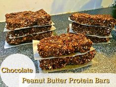 Healthy Chocolate Protein Bars