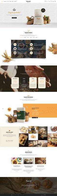 Organici - Organic Store WordPress Theme on Behance