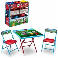Disney Mickey Mouse Playground Pals Activity Table Set, Multicolor ...