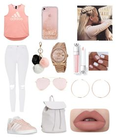 """""""A.D.I.D.A.S."""" by ehesrickaylahall ❤ liked on Polyvore featuring adidas, Topshop, Aéropostale, GUESS, Rebecca Minkoff, Rolex and Anita Ko"""