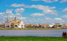 Spain, Andalucia, El Rocio - The funky town  near Doñana National Park  Read more: http://www.budgettravel.com/slideshow/wild-europe,45001/#ixzz3DQa1AvuP