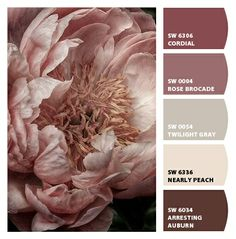 Love this sophisticated colour scheme with tones on blush and marsala - both key colours for 2015.