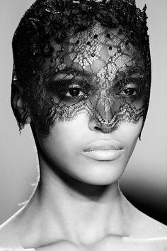 Jourdan Dunn in lace headpiece, Jason Wu Fall 2011 collection | New York Magazine