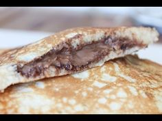 How To Make Nutella And Peanut Butter Stuffed Pancakes - By One Kitchen ...