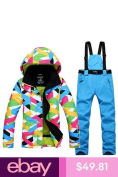 Womens Outdoor Sport Ski Suit Waterproof Snowsuits Coat Pants Clothing  Winter. eBay. 2018 Winter Snow ... 8772d4938