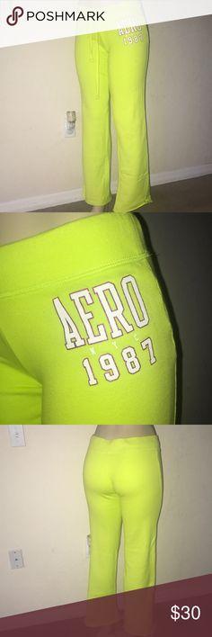 BUNDLE!!!! Three XS Aeropostale track pants BUNDLE!!!!! 1. Neon green track pants size XS, never been worn.  2. Black track pants size XS, only worn twice.  3. Teal track pants size XS, only worn twice. Aeropostale Pants Track Pants & Joggers