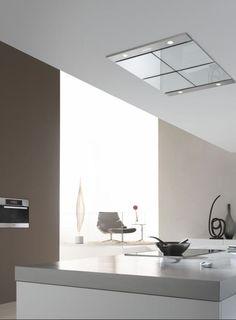 Afzuigkap in verlaagd plafond