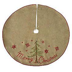 """DONNER & BLITZEN 48"""" Deluxe Burlap Christmas Tree Skirt"""