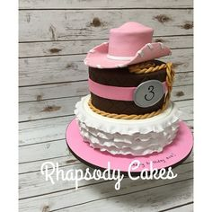Cowgirl 3rd Birthday Cake