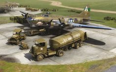Boeing B-17G Flying Fortress 'Thundermug' on the ground, by Adam Tooby