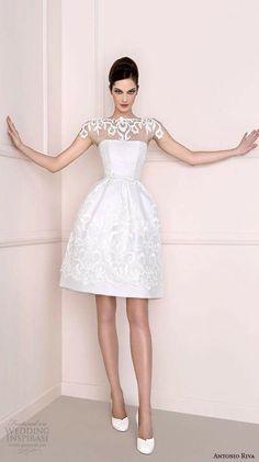 Vestido corto para boda civil