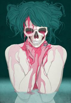 ImageFind images and videos about art, illustration and skull on We Heart It - the app to get lost in what you love. Arte Horror, Horror Art, Inspiration Art, Art Inspo, Illustrations, Illustration Art, Wallpaper Animes, Iphone Wallpaper, Drawn Art
