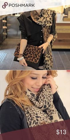 Beautiful Scarf! Leopard print scarf! Absolutely elegant and gorgeous! Accessories Scarves & Wraps