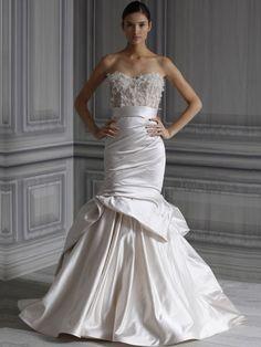 Vestido de Novia Sirena Strapless Corazón -- Monique Lhuillier