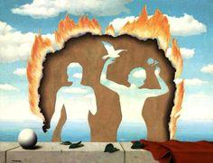 René Magritte - Mesdemoiselles de l'Isle Adam, 1942. Oil on canvas